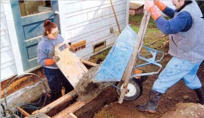 Щит позволяет укладывать бетонную массу в опалубку без расплёскивания