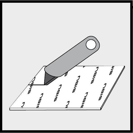 Перед распилкой обязательно разрежьте защитный слой и подложку ножом.