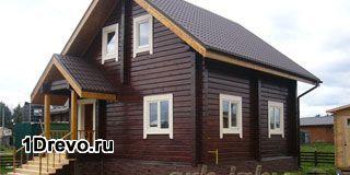 Дачный дом из бруса 7х7 для летнего отдыха