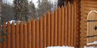 Деревянные заборы из оцилиндрованного бревна