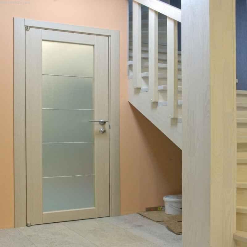 Двери белёный дуб в интерьере