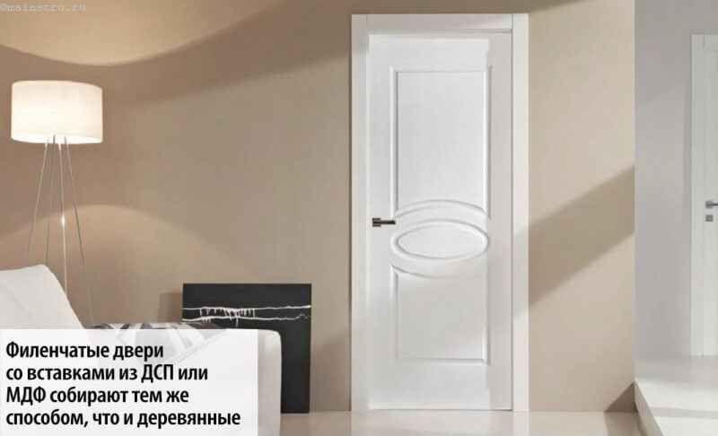 Филёнчатые двери со вставками из ДСП или МДФ