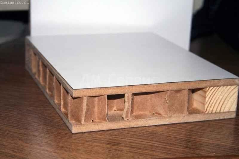 Заполнение щитовых дверей из ячеистого картона