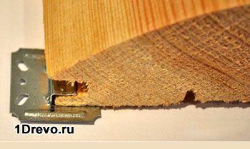 Крепление деревянного блок-хауса