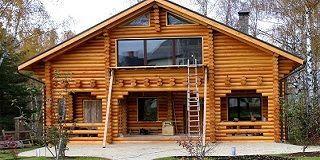 Изготовление домов из оцилиндрованного бревна – алтай