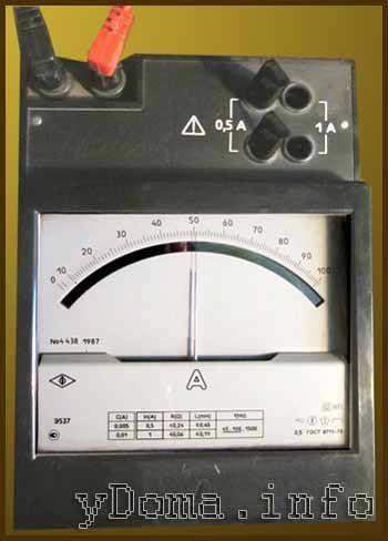 Измерение силы потребляемого тока электроприбора