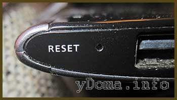 Фотография кнопки сброса планшета Acer A500