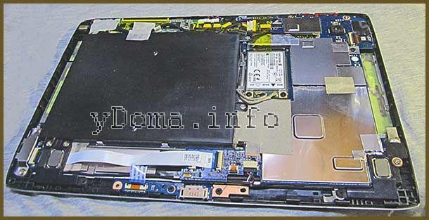 Фото планшета Acer A500 со снятой задней крышкой