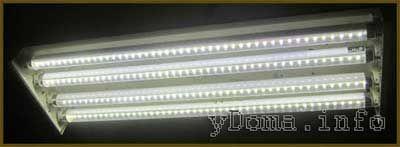 Как переделать люминесцентный светильникв светодиодную лампу своими руками