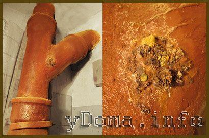 Как заделать свищ в канализационной трубе своими руками