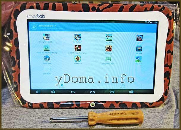 Фото отремонтированного планшета