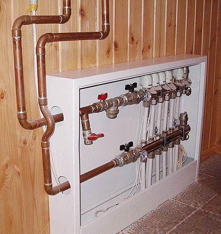 Коллекторный шкаф для теплого пола: обустраиваем нишу с оборудованием