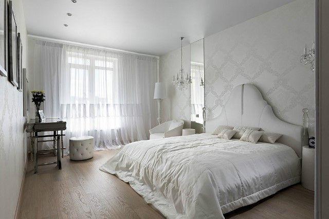 Комбинированные обои в спальню 2017: фото и дизайн