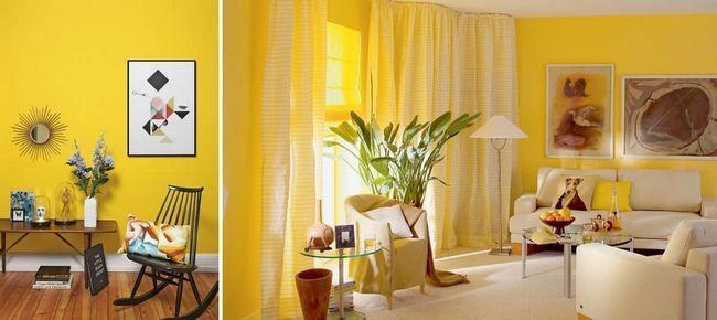 Желтые обои в комнате напомнят вам о чудесном и солнечном лете
