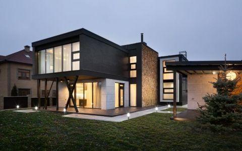 Лаконичный дом от украинского дизайнера сергея махно