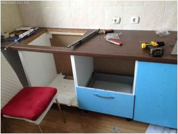 Собираем мебель для кухни - монтаж ящиков
