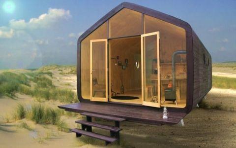 Модульный дом из картона, который простоит 100 лет