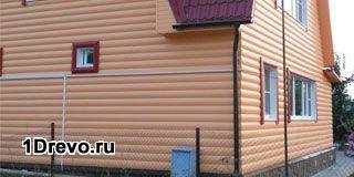 Наружная отделка деревянного дома из бревна