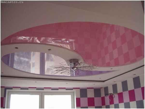 Яркие натяжные потолки для кухни