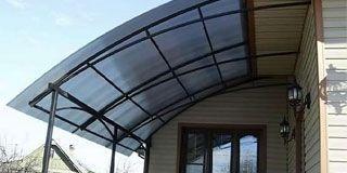 Навес над крыльцом из поликарбоната: технология изготовления