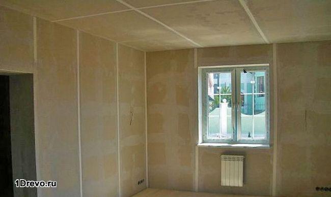 Недорогая отделка внутренних стен брусового дома