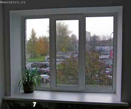 Вид окна после покраски откосов