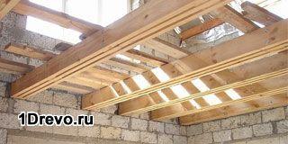 Перекрытия по деревянным балкам в кирпичном доме