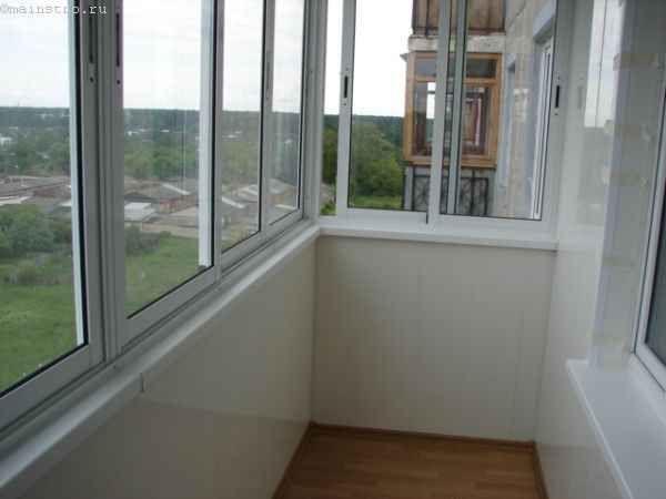 Раздвижной ПВХ профиль для остекления балконов и лоджий
