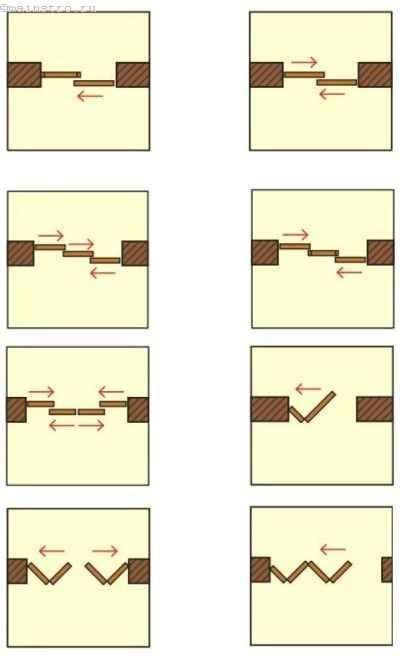 Раздвижные двери в проеме стены