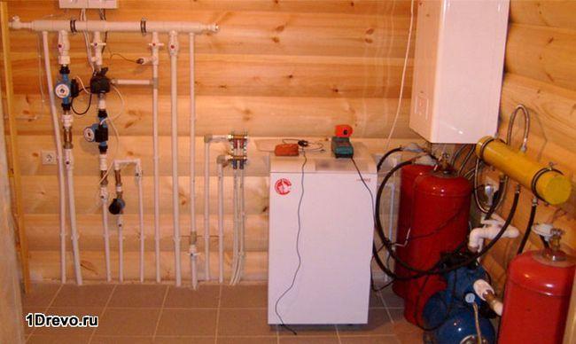 Система индивидуального отопления в брусовом доме
