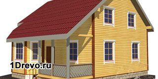 Сколько потребуется клеёного бруса на дом 10х10 м