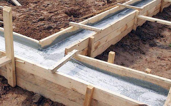 затвердение бетона фундамента