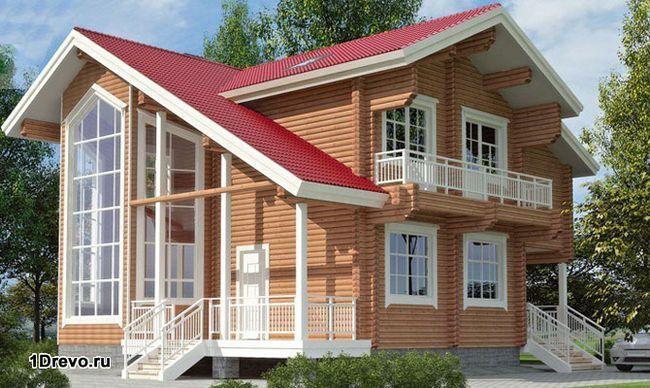 Стильный дом из бруса в финском стиле для дачи