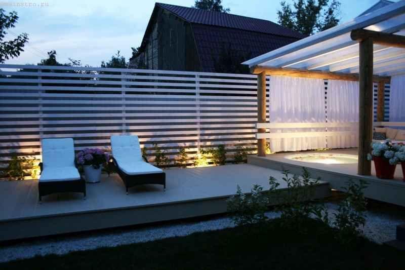 фото одноэтажные дома с террасой
