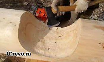Традиционная технология рубки сруба в чашу