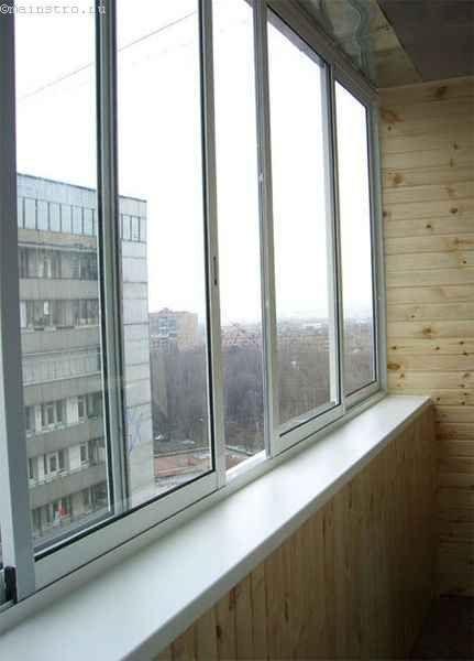 Остекление балконов или лоджий с раздвижными створками