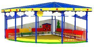 Веранда для детей на дачном участке из дерева