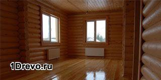 Внутренняя отделка деревянных домов из бревна
