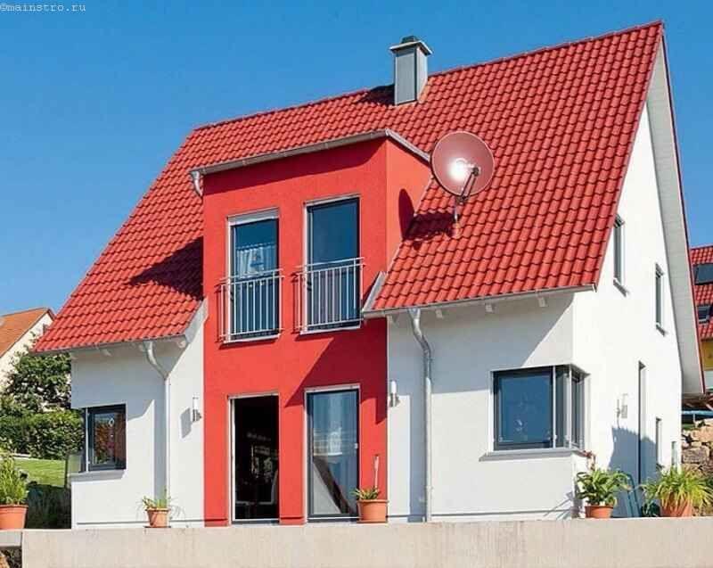 Цвет фасада гармонирует с цветом кровельного покрытия