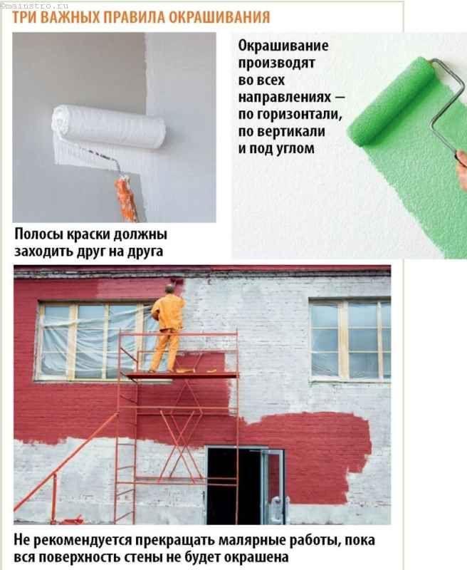 Правильная окраска фасада дома
